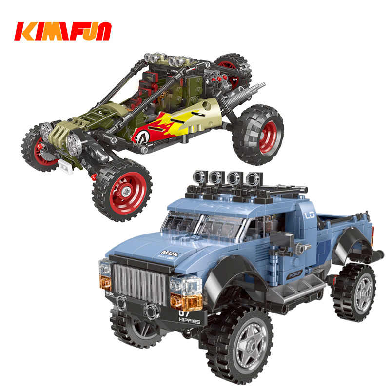 500pcs+ Gift SUV Game Car Pickup Model CAR Bricks Toys Buggy Building block Tool Sets Combat Compatible