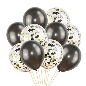 Image 5 - 10 шт., разноцветные латексные шары с конфетти
