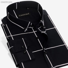 49b57b1d6e 2017 de alta calidad de manga larga a cuadros hombres algodón Camisas  estilo social urbano casual Camisa del negocio de la moda .