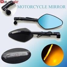 Universale Del Motociclo Illuminato Specchio Laterale Retrovisore Specchi Per Yamaha YZF R1 R6 R6S MT09 MT 09 FZ6 FZ8 FZ1 XJR 1300