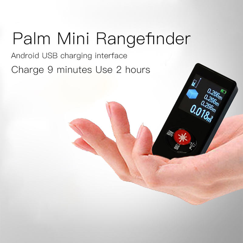 New Leter Laser range finder Micro small infrared electronic ruler High-precision USB charging meter