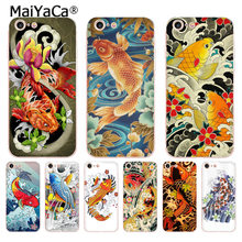 MaiYaCa Japanese Japan Tattoo Koi Fish soft tpu phone case cover for iPhone 8 7 6 6S Plus X 5 5S SE 11pro case Cover(China)