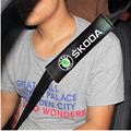2x Excellent car-styling Seat belts all cotton case for skoda octavia fabia rapid yeti superb octavia