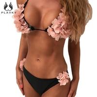 PLAVKY 2017 Sexy Halter String Micro Biquini Bandage Swim Beach Wear Bathing Suit Swimsuit Swimwear Women