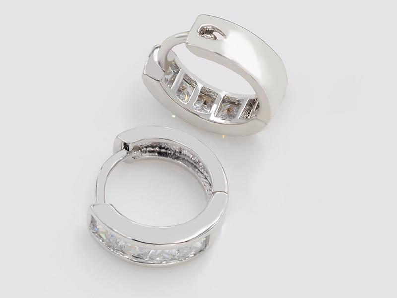 MxGxFam женские серьги-кольца квадратная AAA+ кубический циркон без свинца и никеля для аллергии белого золота