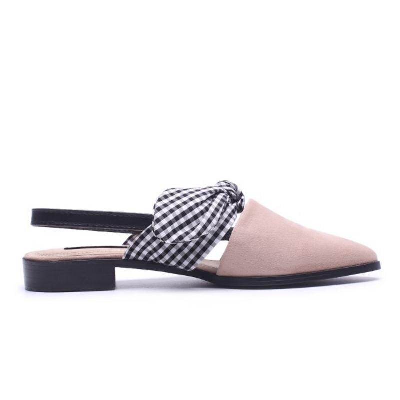 Razamaza Taille noir Chaussures Beige Treillis De Sandlas Couleur Réunion Femmes Mode 43 Partie Mixte 33 Appartements Bowtie Doux Sandales XPn0Ok8w