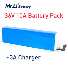 цена на Mr. Li 36V 10Ah 18650 Rechargeable Battery Pack Li Polymer Battery 36V For Electric Bike