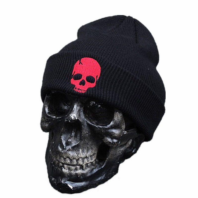 New Fashion Skull Warm Beanie Punk Hat 2016 Winter Knitting Hip Hop Caps Ghost Beanies Knitted Cap Hats For Men Outdoor Sport new arrival men knitted hat high quality brand designer winter cap fashion warm men beanie outdoor casual caps