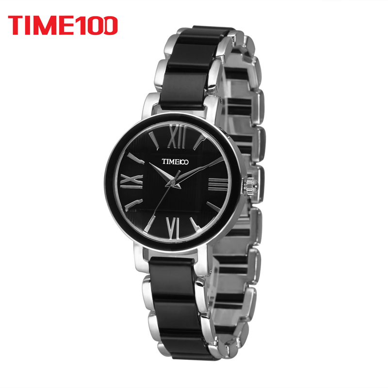 7a12eea746ca Time100 W50910L.03A Reloj pulsera de joya para mujer con materia copia  cerámica de color negro