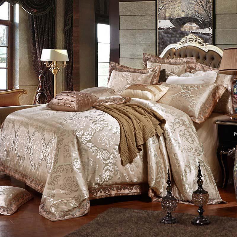 Heimtextilien Bettwäsche Set Jacquard Luxus Baumwolle Bett Set - Haustextilien - Foto 2