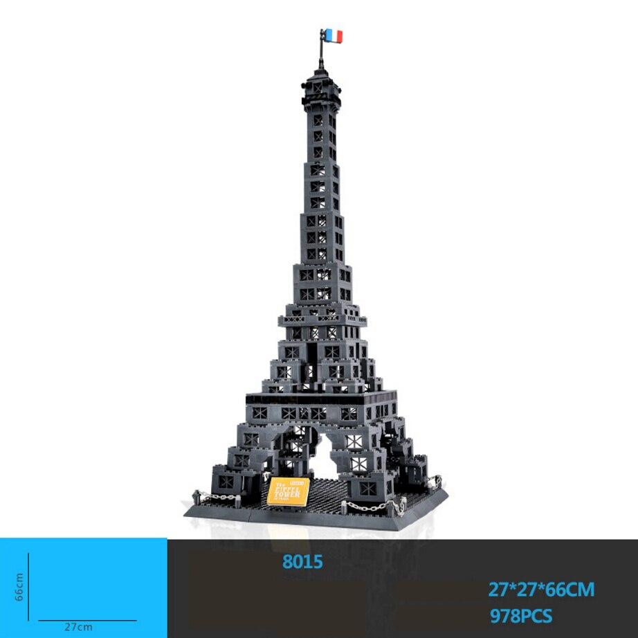 Créateur chaud mondialement célèbre Architecture tour Eiffel Paris France bloc de construction modèle briques jouets éducatifs collection pour cadeau