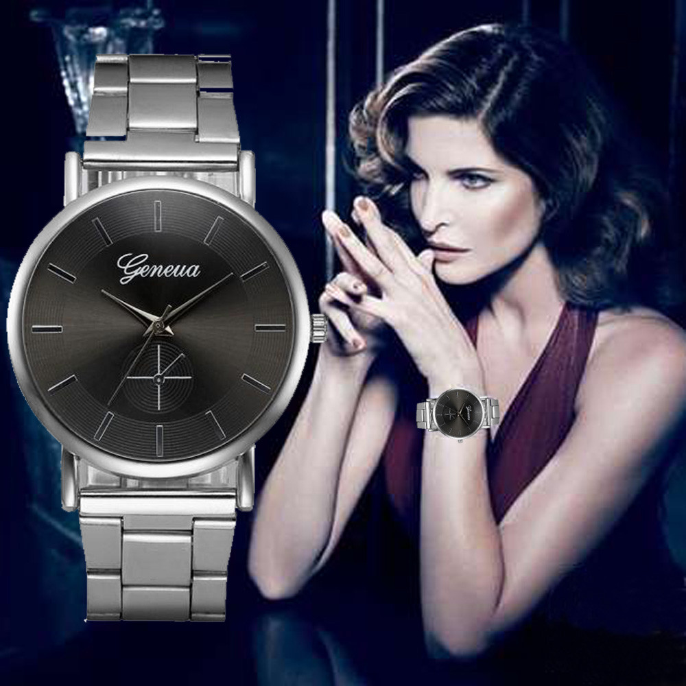 New Arrival Women Crystal Stainless Steel Big Dial Watch Watches Analog Quartz Wrist Watch Bracelet Watch Relogio Masculine fashion women crystal silver stainless steel analog quartz wrist watch bracelet relogio reloj pulsera de cuero z510 5down