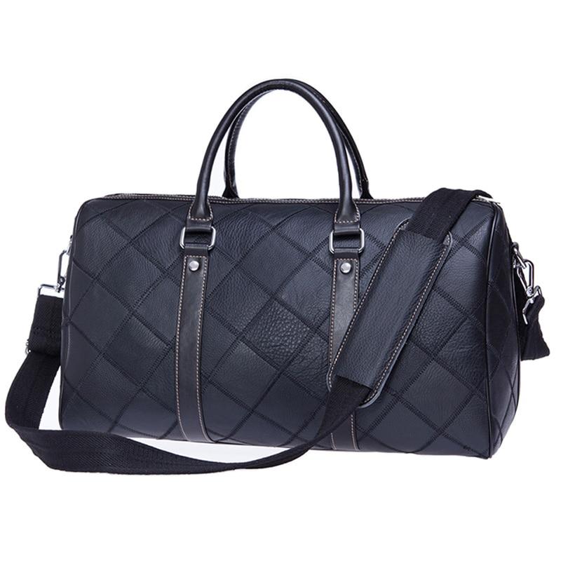 ผู้ชายกระเป๋าเดินทางกระเป๋าหนังแท้ลำลองไหล่กระเป๋าความจุสูงหนังวัวแท้กระเป๋าถือกระเป๋าเดินทางกระเป๋า-ใน กระเป๋าเดินทาง จาก สัมภาระและกระเป๋า บน   1