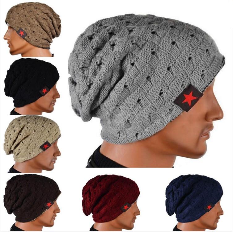 TFGS Winter Warm New Fashion Men Skull Chunky Women Knit Beanie Reversible Baggy Cap Warm Unisex Hat HB88 hot winter beanie knit crochet ski hat plicate baggy oversized slouch unisex cap