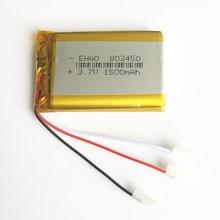 3,7 V 1500mAh 803450 литий-полимерная LiPo аккумуляторная батарея 3 провода для Mp3 DVD PAD камера gps динамик рекордер клавиатура