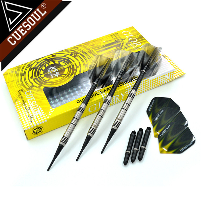 CUESOUL 85% Tungsten Darts 18g 14cm Professional Soft Tip Darts Electronic Darts Black CSGL-N2206 cuesoul tungsten darts 23g 145mm steel tip darts professional electronic soft tip darts