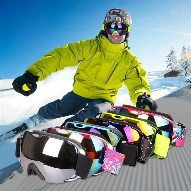 731774832223ee Ski Goggles,Winter Snow Sports Snowboard Goggles with Anti-fog UV Protection  for Men Women Youth Snowmobile Skiing Skating mask