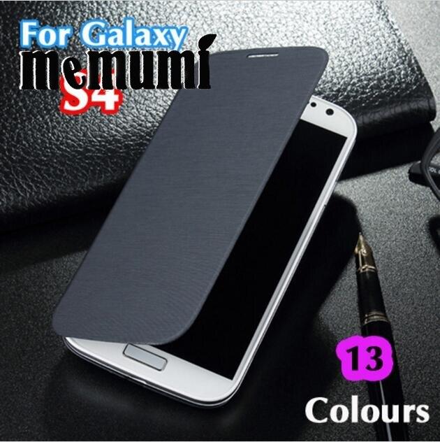 Тонкий В виде ракушки оригинальный Батарея кожа флип задняя крышка чехол рукава сумка для Samsung Galaxy <font><b>S4</b></font> i9500 i9505