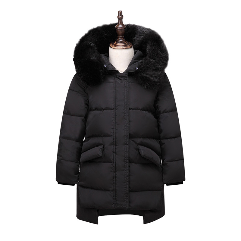 2017 Winter Warm Kids Down Jackets for Baby Girls Fashion Down Coat Hooded Jacket Outerwear Thicken Natural Fur Collar Overcoat 2015 hot new winter thicken warm woman down jacket hooded fox fur collar coat outerwear parkas luxury mid long plus 3xxxl size