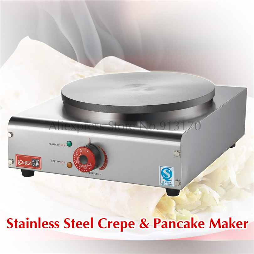 New Crepe Maker Machine Single Pan Commercial Crepe Machine Electric Pancake Machine 3000W jiqi stainless steel electric crepe maker plate grill crepe grill machine