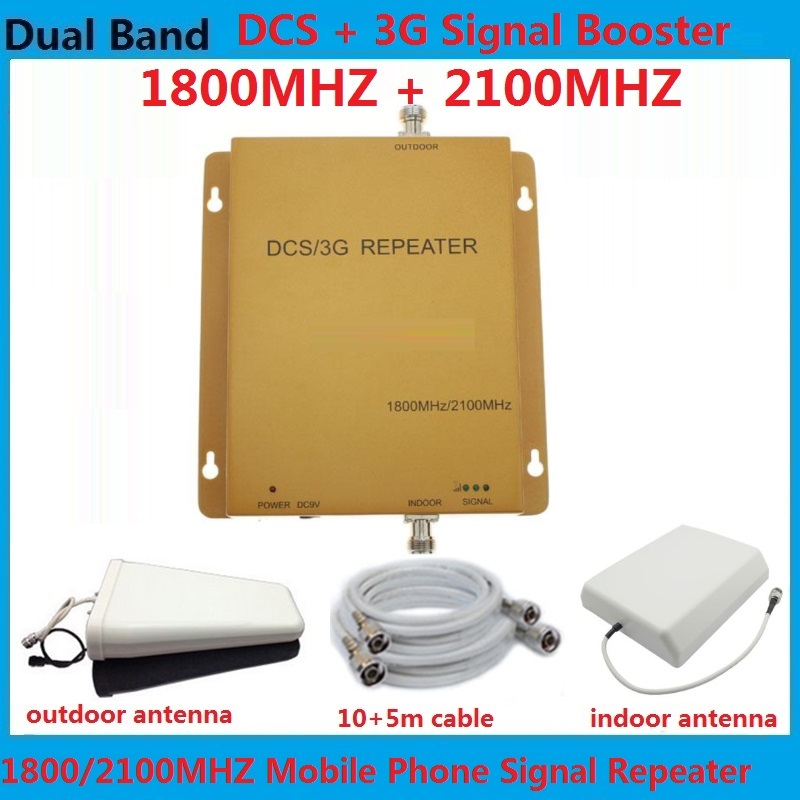 High Gain 1800MHz 2100MHz Cellular Signal Repeater , DCS UMTS Mobile Phone Signal Booster lte 3g 4g repeater AmplifiersHigh Gain 1800MHz 2100MHz Cellular Signal Repeater , DCS UMTS Mobile Phone Signal Booster lte 3g 4g repeater Amplifiers