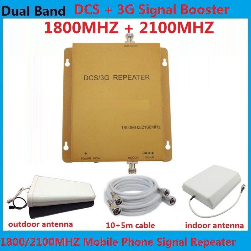 Répéteur de Signal cellulaire 1800 MHz 2100 MHz à Gain élevé, amplificateurs de répéteur de Signal de téléphone portable DCS UMTS lte 3g 4g