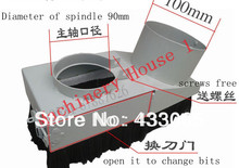 Free Shipping 90mm Vacuum Cleaner Engraving machine Dust Cover for CNC Router 90mm diameter for spindle motor