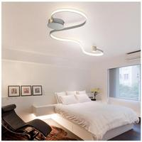 Modern Aluminium Ceiling Lights Living Room Corridor Aisle Plafonnier Iluminacion Luster Luminaria Lamparas White Black Fixtures