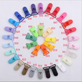 Multi Colors 100pcs 20MM KAM Brand Plastic Clips Transparent Pacifier Clips Soother Holder For Baby Pacifier  Free Shipping