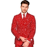 Red Casual Suit Christmas Style Party Blazers Korean Style Clothing Men Bleazers Men Blazer Masculino tunika men CD50