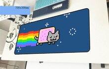 Nyan cat геймерский коврик для мыши 700x300x3 мм игровой коврик для мыши большие рождественские подарки аксессуары для ноутбуков ПК ноутбук padmouse эргономичный коврик