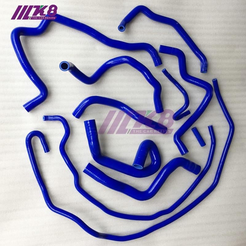 For Ford Focus Duratec MZR 1.8L 2.0L DOHC Silicone Coolant Radiator Hose Blue
