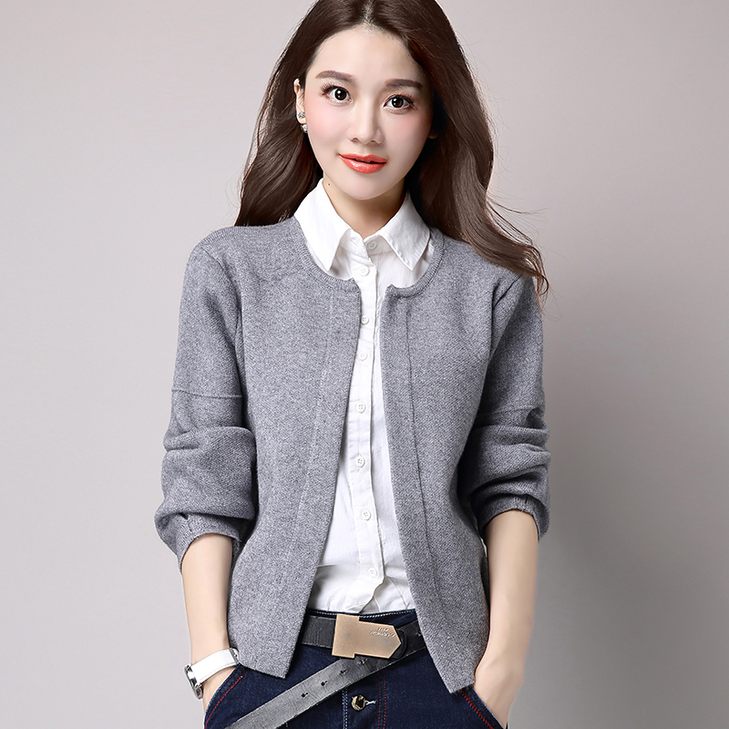Women's Long Sleeve Knitted Cashmere Cardigan Sweater