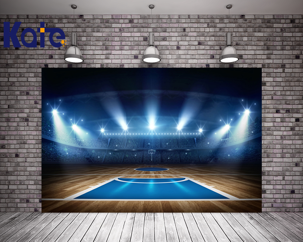 Kate World Cup Photography Backdrops Light Audience Background Photography Basketball Court For Children Photo Studio Backdrop