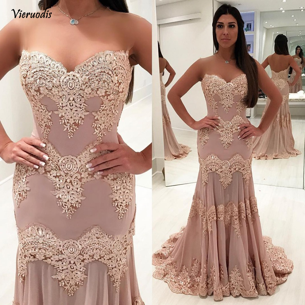 Sexy New Long Evening Dress 2019 Sweetheart Neck Off the Shoulder Floor Length Appliques Satin Prom Dresses Formal Gowns in Evening Dresses from Weddings Events