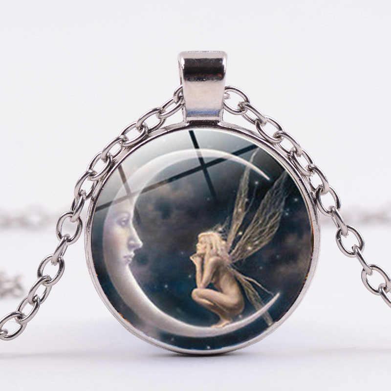 Новое поступление простой дизайн Shing Little Elfin с украшение с кристаллами стеклянный кулон ожерелье для женщин Девушка ювелирные изделия горячая распродажа