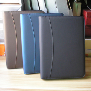 Image 3 - A4 zipper senior PU leather business work manager bag conference file folder organizer sales agreement folders portfolios 641B