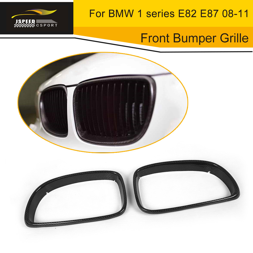Real Carbon Fiber E87 Grill Frame Car Front Bumper Grille For BMW 1 series E82  2008-2011Real Carbon Fiber E87 Grill Frame Car Front Bumper Grille For BMW 1 series E82  2008-2011