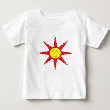 Dark Souls kids T Shirts funny Praise The Sun t shirt New Design boy/girl T-shirt Fashion O neck Tshirt baby Short Sleeve 3T-8T