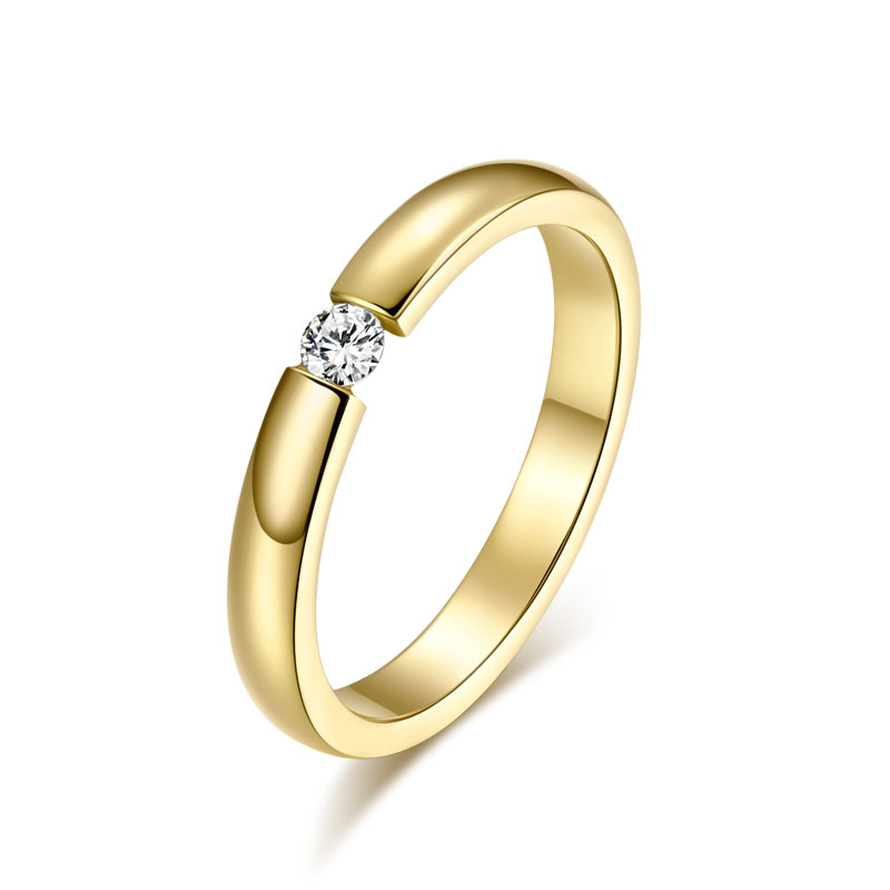 mm simple design rings for women men jewelry champagne