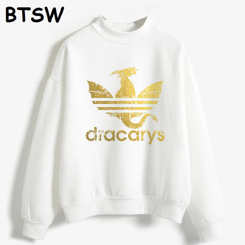 Женская одежда 2019 Новая мода Harajuku Толстовка Dracarys Dragon Graphic Hoddie Sudadera Mujer Повседневная Женская толстовка