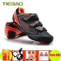 Tiebao estrada ciclismo sapatos pedais ciclismo tênis de corrida atlética respirável bicicleta sapatos sapatos