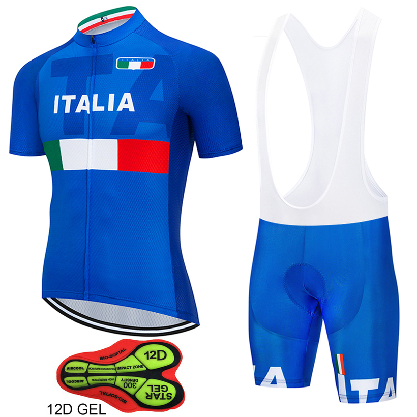 2019 Tour de Italy 12D GEL Cycling Jersey Short Jersey Ropa De Ciclismo Maillot ITALIA Cycling Clothes Cycling Bicycle Clothes(China)