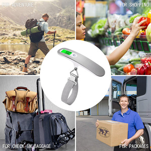 Image 4 - 50kg x 10g Digitale Gepäck Skala Tragbare Elektronische Waage Gewicht Balance koffer Reise Hängen Steelyard Haken skala