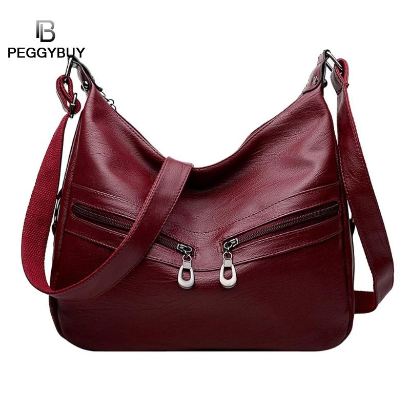 Women Bag Female Handbags Leather Over Shoulder Bag Crossbody Luxury Designer Handbag Fashion Tassel Zipper Red Big Tote Bags indoor air quality monitor air quality detector tvoc&fomaldehyde detector