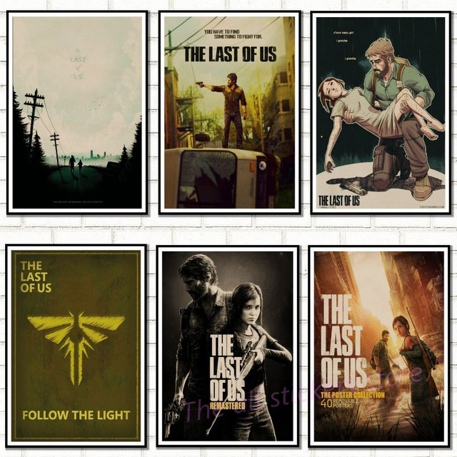 the last of us virtual game home furnishing decoration kraft game poster drawing core wall stickers