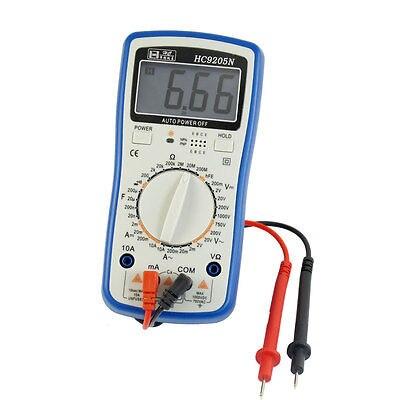 Blue Gray 200mV-750V AC Voltage Ohm Resistance Digital Multimeter w 2 Test Lead  цены