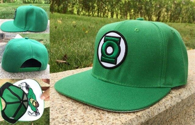 49b8a4cb1cf DC Lanterna Verde Símbolo do adulto Snapback Chapéu Carta Boné de Beisebol  Ajustável Tecido sumshade Chapéu