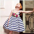 New Arrive 2016 monsoon  girls dress baby sundress vestidos babymmclothes TY219
