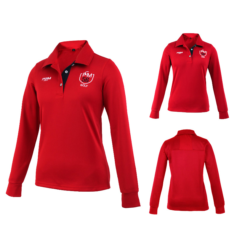 Outdoor Sport PGM Women Polo T-shirt Quick Dry Glof Shirt Breathable Cotton Golf Long-Sleeve Shirts Table Tennis Shirt  (7)